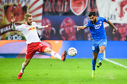 LEIPZIG, Feb. 26, 2019  Hoffenheim's Kerem Demirbay (R) vies with Leipzig's Konrad Laimer during a German Bundesliga match between RB Leipzig and TSG 1899 Hoffenheim in Leipzig, Germany, on Feb. 25, 2019. The match ended in a 1-1 draw. (Credit Image: © Kevin Voigt/Xinhua via ZUMA Wire)