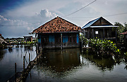 A house is flooded at Bedono village, near Semarang