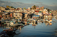 Philippines, Metro Manila. Late afternoon in Navotas, one of the cities of Metro Manila situated at the sea.