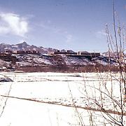 8 January 1963<br /> Kabul. KK from Malik Khel LD. Snow fields; village on ridge above ND Nice.