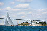 12  Meter Class Columbia racing at the Museum of Yachting Classic Yacht Regatta