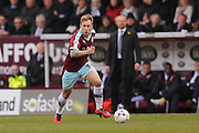 Burnley midfielder Scott Arfield  during the Sky Bet Championship match between Burnley and Blackburn Rovers at Turf Moor, Burnley, England on 5 March 2016. Photo by Simon Davies.