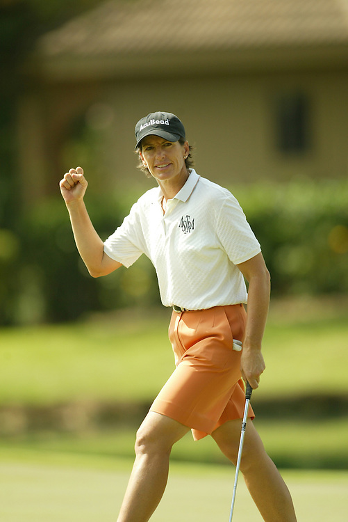 Juli Inkster..2003 Samsung World Championships..TPC at the Woodlands..The Woodlands, TX..Sunday, October 12 2003..photograph by Darren Carroll