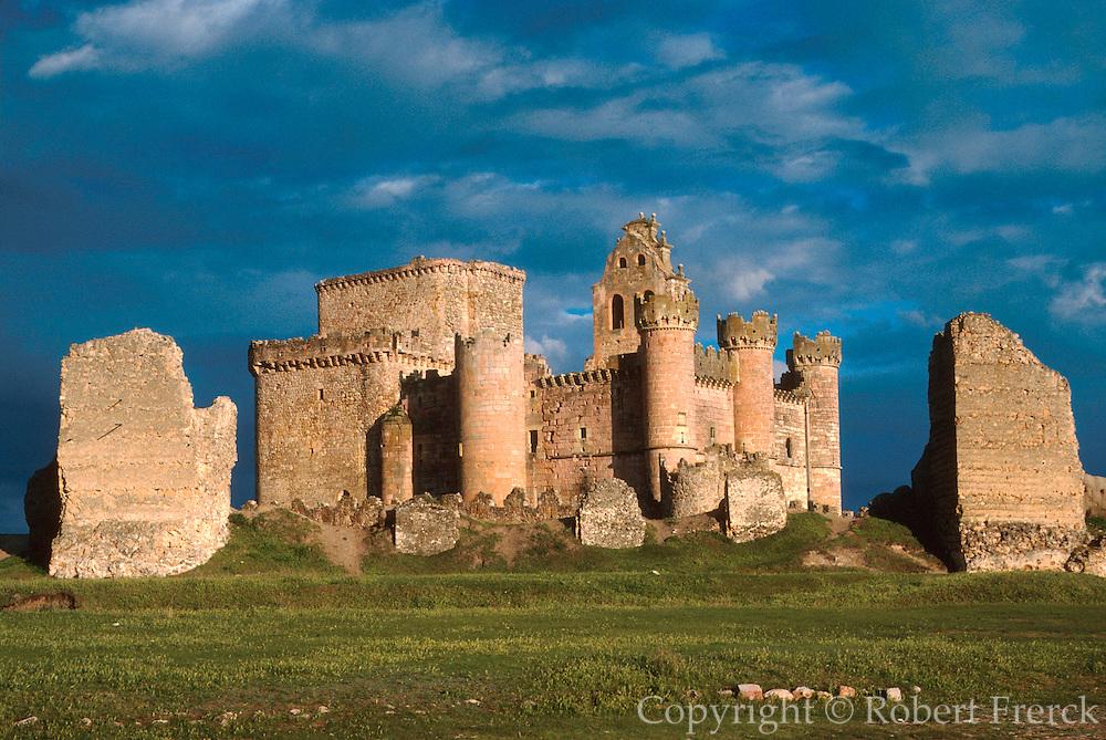 SPAIN, CASTILE AND LEON walls of Turegano Castle near Segovia