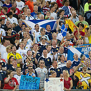 May 26 2012: Scotland fans cheer for their team during the U.S. Men's National Soccer Team game against Scotland at Everbank Field in Jacksonville, FL. At halftime USA lead Scotland 2-1.
