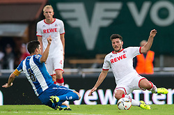22.07.2015, Grenzland Stadion, Kufstein, AUT, Testspiel, 1. FC Köln vs RCD Espanyol Barcelona, im Bild v.l. Joan Jordan (Espanyol Barcelona), Jonas Hector (1. FC Koeln) // f.l.t.r. oan Jordan (Espanyol Barcelona) Jonas Hector (1. FC Koeln) during the International Friendly Football Match between 1. FC Cologne and RCD Espanyol Barcelona at the Grenzland Stadion in Kufstein, Austria on 2015/07/22. EXPA Pictures © 2015, PhotoCredit: EXPA/ Johann Groder