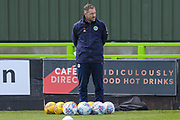 Forest Green Rovers assistant manager, Scott Lindsey during the training session ahead of the second leg Play-Off match against Tranmere Rovers for Forest Green Rovers at the New Lawn, Forest Green, United Kingdom on 12 May 2019.