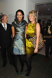 Left to right, SALONI LODHA and OLIVIA BUCKINGHAM at a party to celebrate the launch of DKNY's new fragrance for women Delicious, held at The Serpentine Gallery, Kensington gardens, London on 12th December 2007.<br /><br />NON EXCLUSIVE - WORLD RIGHTS