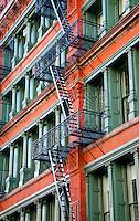 New York, New York City. Iron frame building.