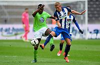 v.l. Josuha Guilavogui (Wolfsburg), Per Ciljan Skjelbred<br /> Berlin, 22.04.2017, Fussball Bundesliga, Hertha BSC Berlin - VfL Wolfsburg 1:0<br /> <br /> Norway only