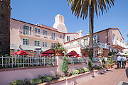 La Valencia Hotel on Prospect St. in La Jolla California