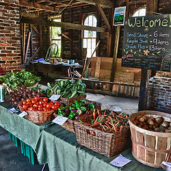 The Community Supported Agriculture (CSA) pick-up at the Crimson and Clover Farm in Northampton, Massachusetts. HDR