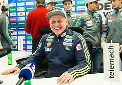 Goran Janus during press conference of Slovenian Ski Jumping team, on January 23, 2017 in Telemach centre, Ljubljana, Slovenia. Photo by Vid Ponikvar / Sportida