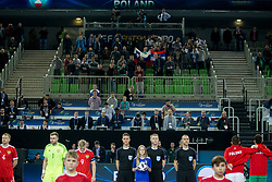 Ball girl during futsal match between Russia and Poland at Day 1 of UEFA Futsal EURO 2018, on January 30, 2018 in Arena Stozice, Ljubljana, Slovenia. Photo by Urban Urbanc / Sportida