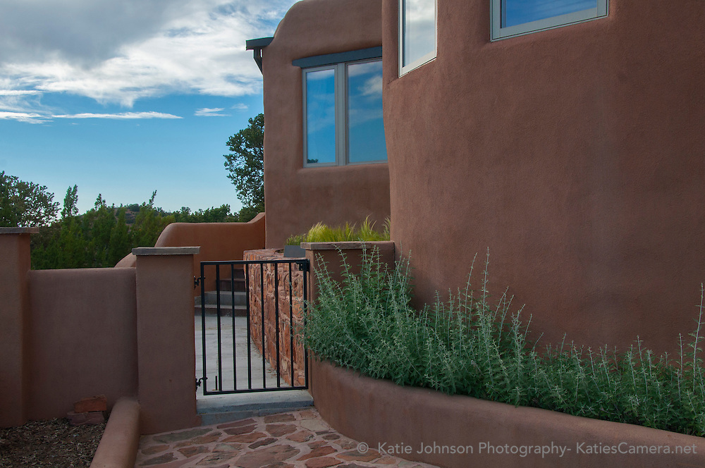 Real estate, architecture, vacation home, photography, exterior, Katie Johnson, Katies Camera. builder Exterior Photography Santa Fe New Mexico Katie Johnson Photography KatiesCamera.net