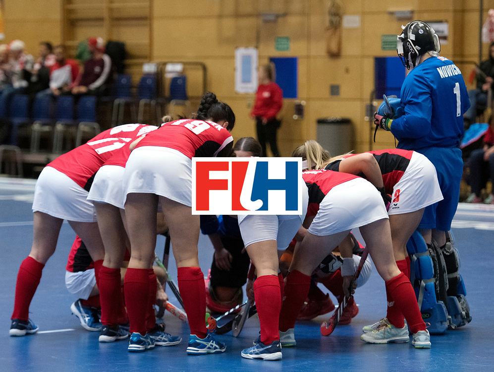 BERLIN - Indoor Hockey World Cup<br /> Belarus - Poland<br /> foto: Line Up<br /> WORLDSPORTPICS COPYRIGHT FRANK UIJLENBROEK