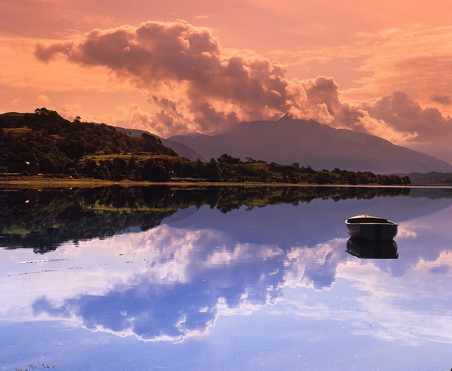 Moody scene on Loch Etive with Ben Cruachan in view,Argyll