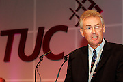 Steve Sinnott, NUT General Secretary, speaking at the TUC..© Martin Jenkinson, tel 0114 258 6808 mobile 07831 189363 email martin@pressphotos.co.uk. Copyright Designs & Patents Act 1988, moral rights asserted credit required. No part of this photo to be stored, reproduced, manipulated or transmitted to third parties by any means without prior written permission