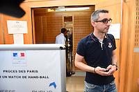 Yann Montiege - 17.06.2015 - Proces des paris sportifs du Handball - Montpellier<br /> Photo : Alexandre Dimou / Icon Sport