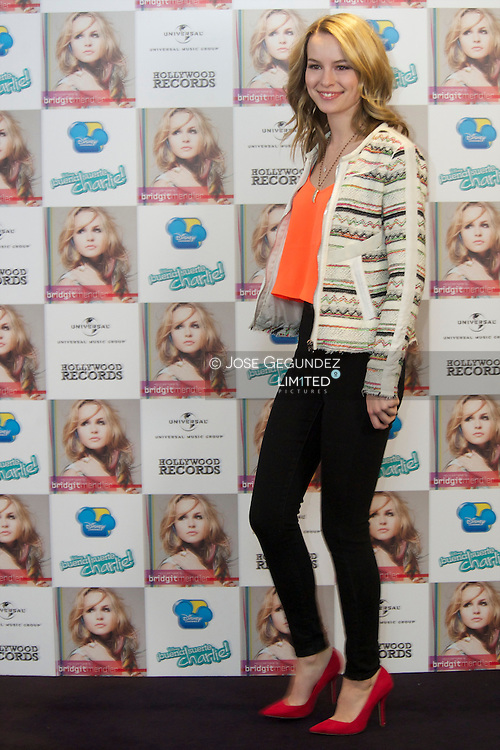 Bridgit Mendler attends 'Hello My Name Is?' photocall at Me Hotel on February 25, 2013 in Madrid