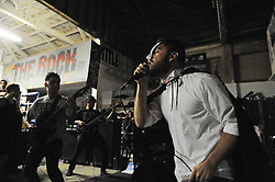 "Singer Calvin Gines of Vianna performs during ""Nightmare on Alisal Street,"" a boisterous five-band metal show put on by independent Salinas organizers on Saturday, October 19th at Rock Boxing Gym."