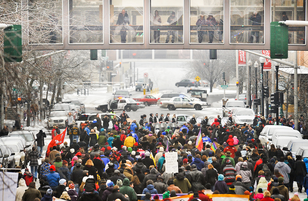 Martin Luther King Jr. Day celebrations. (Photo by Rajah Bose)