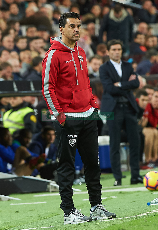 November 24, 2018 - Valencia, Valencia, Spain - Michel, head coach of Rayo Vallecano during the La Liga match between Valencia CF and Rayo Vallecano at Mestalla Stadium on November 24, 2018 in Valencia, Spain (Credit Image: © AFP7 via ZUMA Wire)