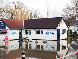 The flooded sports center in Quarry Wood near Marlow Thames Valley, United Kingdom. Tuesday, 18th February 2014. Picture by Max Nash / i-Images