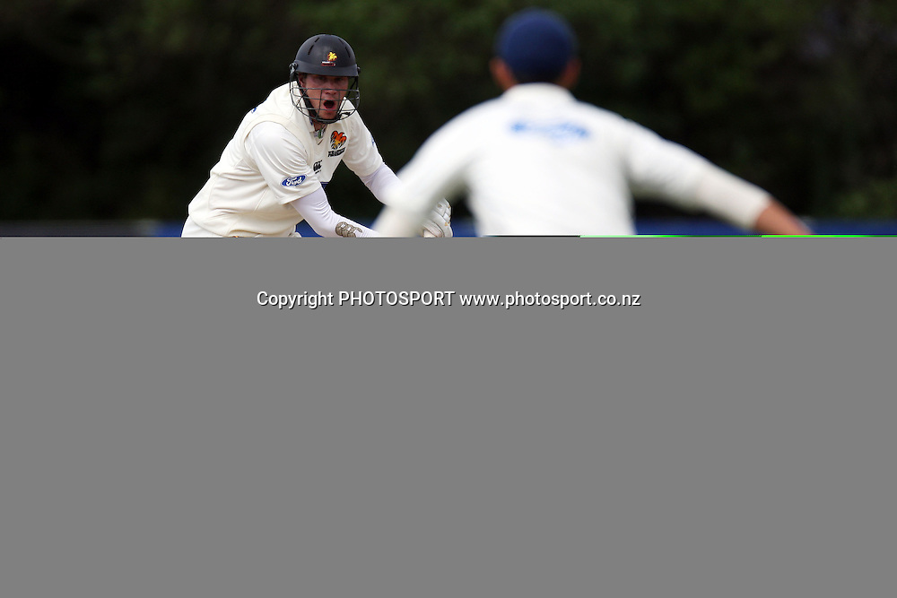Stephen Murdoch, Plunket Shield, 4 day domestic cricket. Auckland v Wellington, Colin Maiden Park, Auckland. 22 March 2011. Photo: William Booth/photosport.co.nz