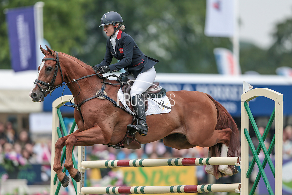 DHI LUPISON ridden by Holly Woodhead at Bramham International Horse Trials 2016 at  at Bramham Park, Bramham, United Kingdom on 12 June 2016. Photo by Mark P Doherty.