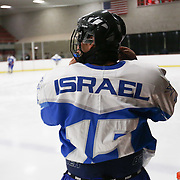 Action during the game between the MIT Engineers and the Israel National Hockey Team at Johnson Ice Rink on March 1, 2014 in Cambridge, Massachusetts . (Photo by Elan Kawesch/CJP)