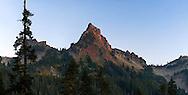 Pinnacle Peak - in the Tatoosh Range of Mount Rainier National Park, Washington State, USA. Photographed near Reflection Lakes.