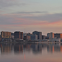 Taken from the Lake Monona bike and walk path on April 13, 2011 at 6:13 AM.  7 minutes before sunrise.