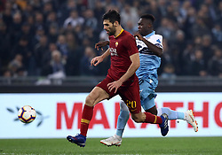 March 2, 2019 - Rome, Lazio, Italy - SS Lazio v As Roma : Serie A.Federico Fazio of Roma and Felipe Caicedo of Lazio at Olimpico Stadium in Rome, Italy on March 2, 2019. (Credit Image: © Matteo Ciambelli/NurPhoto via ZUMA Press)
