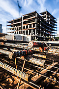 rebar ready for installation in a commercail building