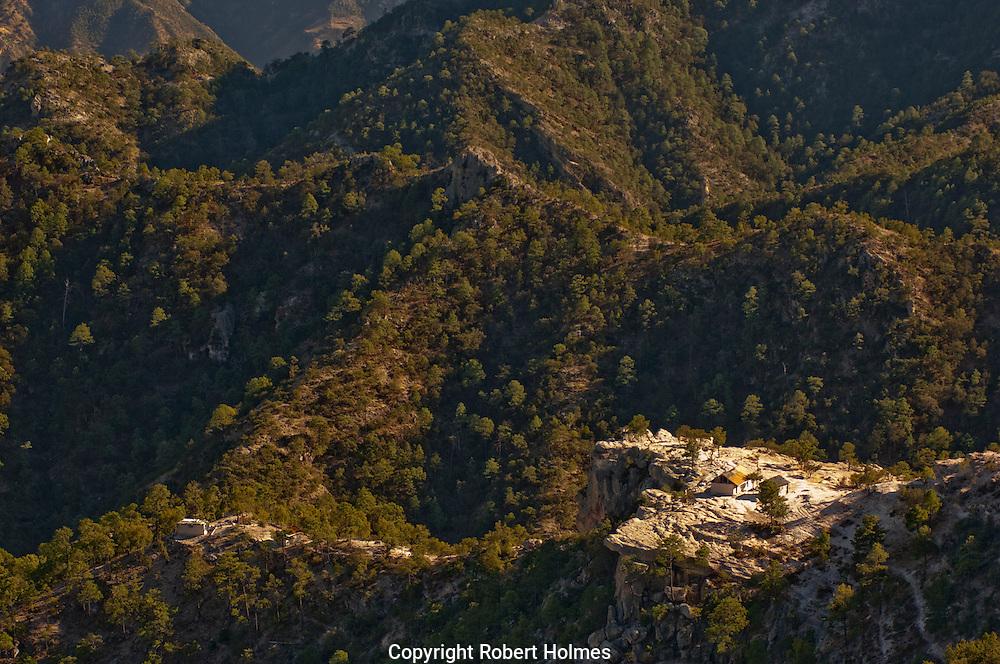 Tarahumara settlement in the Copper Canyon, Mexico