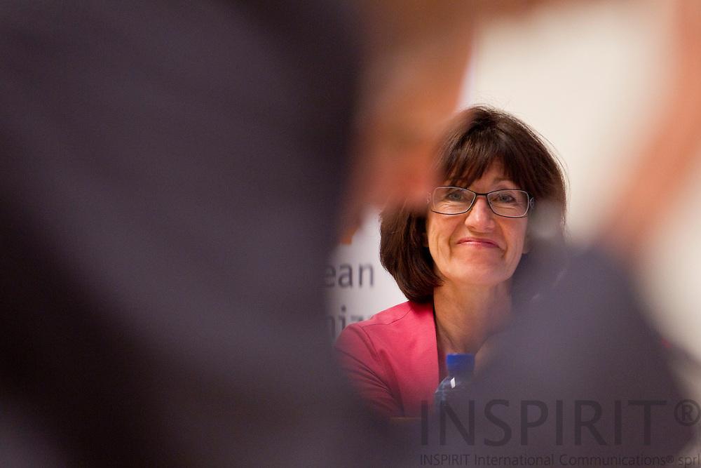 BRUSSELS - BELGIUM - 26 APRIL 2011 - - WHO European Immunization Week 2011 - - Laurette Onkelinx, Vice Prime Minister, Minister for Social Affairs and Public Helalth, Belgium.  Photo: Erik Luntang / INSPIRIT Photo