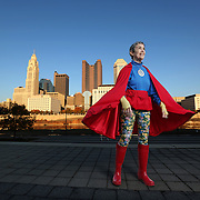 "Portraits of Susann Castore most commonly know as the ""A-OK Lady"" on Friday, October 24 2014 in Columbus, Ohio. Susann's mission is to promote kindness and hope in Ohio(Photo by Leonardo Carrizo)"