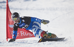 March Aaron during the men's Snowboard giant slalom of the FIS Snowboard World Cup 2017/18 in Rogla, Slovenia, on January 21, 2018. Photo by Urban Meglic / Sportida