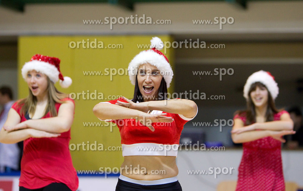 Daisy girls, cheerleaders of Krka during basketball match between KK Krka (SLO) and BK Prostejov (CZE) in 4th Round of Group E of EuroChallenge, on December 7, 2010 in Arena Leona Stuklja, Novo mesto, Slovenia. Krka defeated Prostejov 78 - 62. (Photo By Vid Ponikvar / Sportida.com)