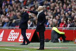Coach Erik ten Hag of Ajax during the Dutch Eredivisie match between Ajax Amsterdam and FC Twente Enschede at the Amsterdam Arena on February 11, 2018 in Amsterdam, The Netherlands