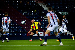 George Thomson of Harrogate Town crosses the ball - Mandatory by-line: Robbie Stephenson/JMP - 16/09/2020 - FOOTBALL - The Hawthorns - West Bromwich, England - West Bromwich Albion v Harrogate Town - Carabao Cup