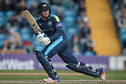 Another boundary for Jonny Bairstow (Yorkshire CCC). Four more runs added the the Yorkshire County Cricket Club total during the Royal London 1 Day Cup match between Yorkshire County Cricket Club and Durham County Cricket Club at Headingley Stadium, Headingley, United Kingdom on 3 May 2017. Photo by Mark P Doherty.