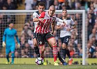 Football - 2016 / 2017 Premier League - Tottenham Hotspur vs. Southampton<br /> <br /> Oriol Romeu of Southampton holds off the challenge of Dele Alli of Tottenham at White Hart Lane.<br /> <br /> COLORSPORT/DANIEL BEARHAM