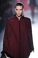 Meghan Collison walks down runway for F2012 Jason Wu's collection in Mercedes Benz fashion week in New York on Feb 10, 2012 NYC