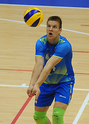 Urban Toman of Slovenia during friendly volleyball match between National teams of Serbia and Slovenia, on August 18, 2017, in Belgrade, Serbia. Photo by Nebojsa Parausic / MN press / Sportida