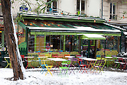 Paris, France. December 17th 2009..Rue Paul Albert (18th Arrondissement)