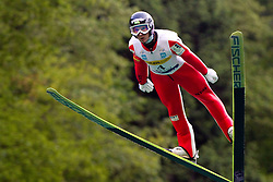 Winner Robert Kranjec during Ski Jumping Summer Continental Cup in Kranj, on July 2, 2011, in Kranj, Slovenia. (Photo by Vid Ponikvar / Sportida)