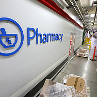The store front on the new pharmacy and Wal-Mart inside the Toyota Motor Manufacturing Mississippi plant in Blue Springs.