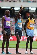 Jairus Kipchoge Birech of Kenya during the Sainsbury's Anniversary Games at the Queen Elizabeth II Olympic Park, London, United Kingdom on 25th July 2015. Photo by Ellie Hoad.